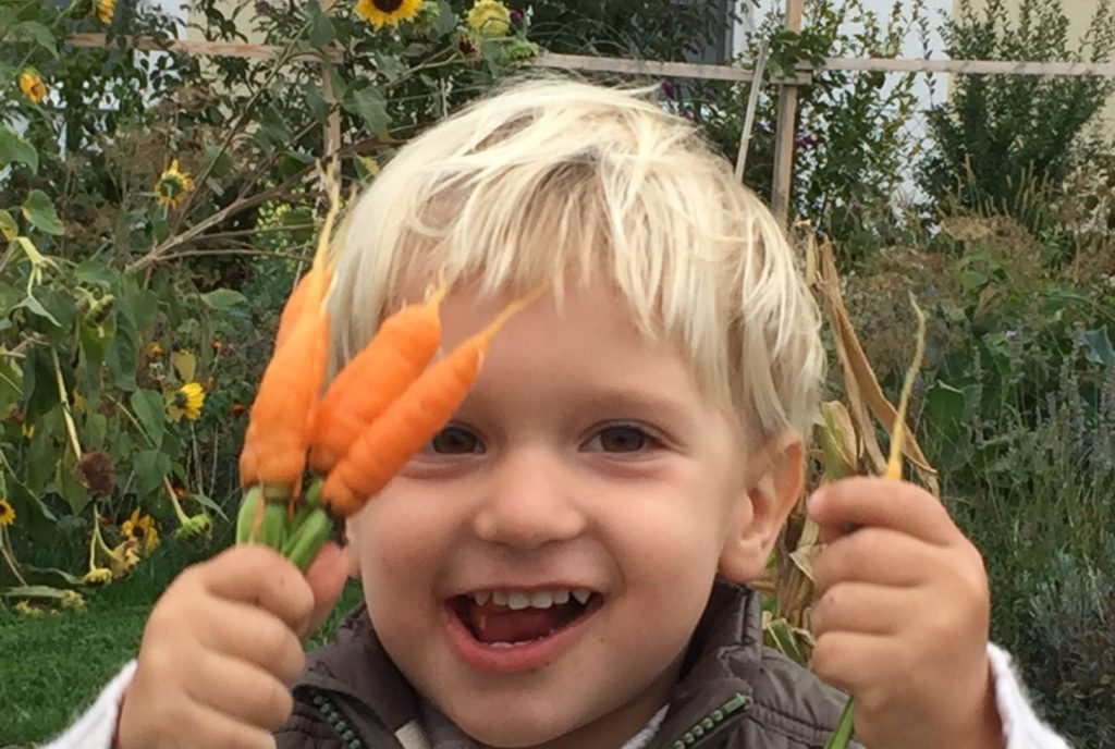 Kind mit Karotten